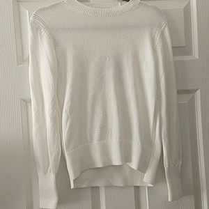 Everlane Off White Crewneck Cotton Sweater
